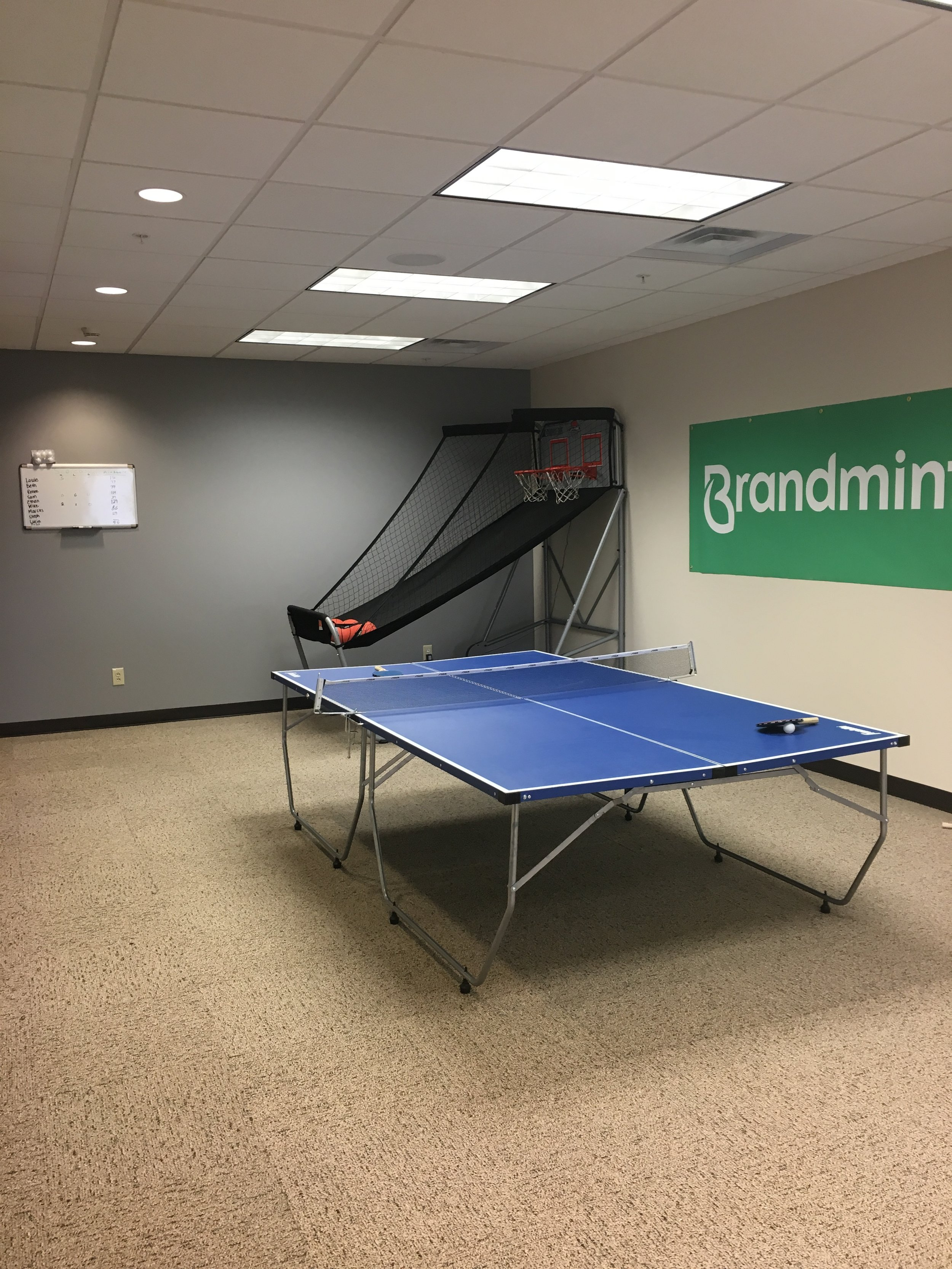 Office Photo with ping pong table