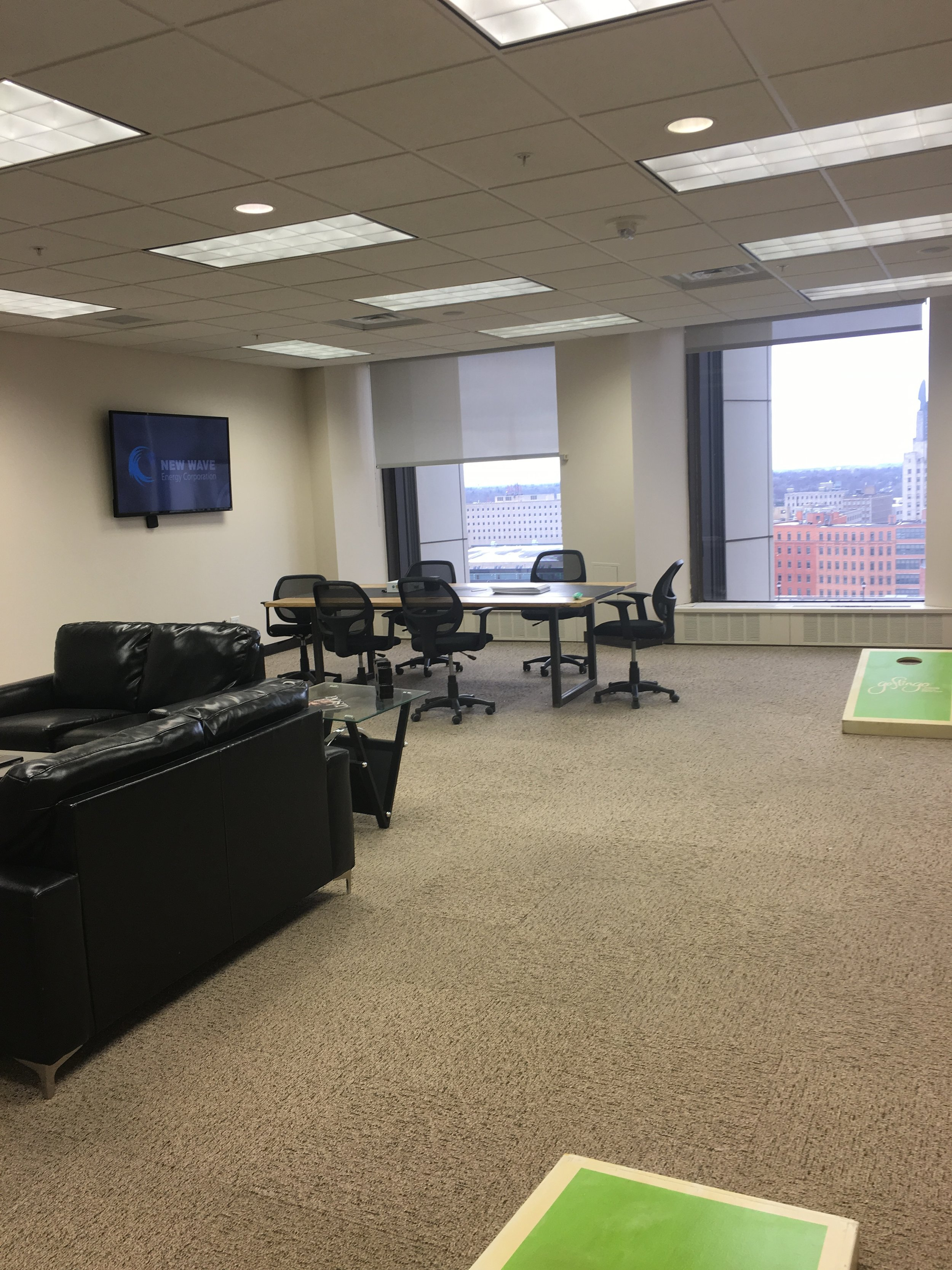 Office Photo with corn hole