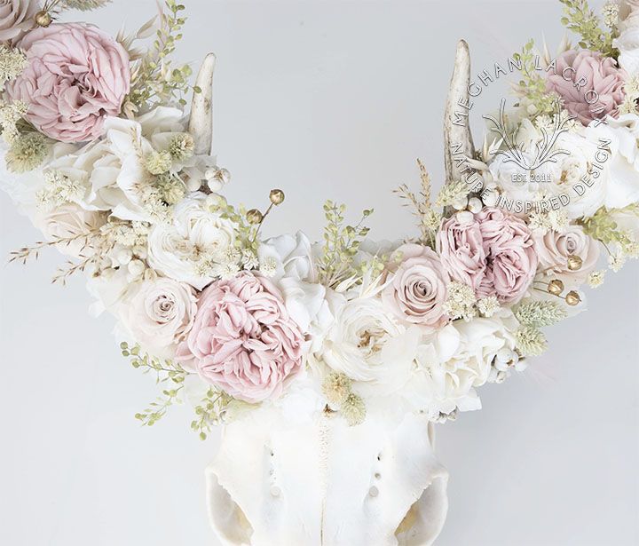Blush and Cream Flowers by MeghanLaCroix.com