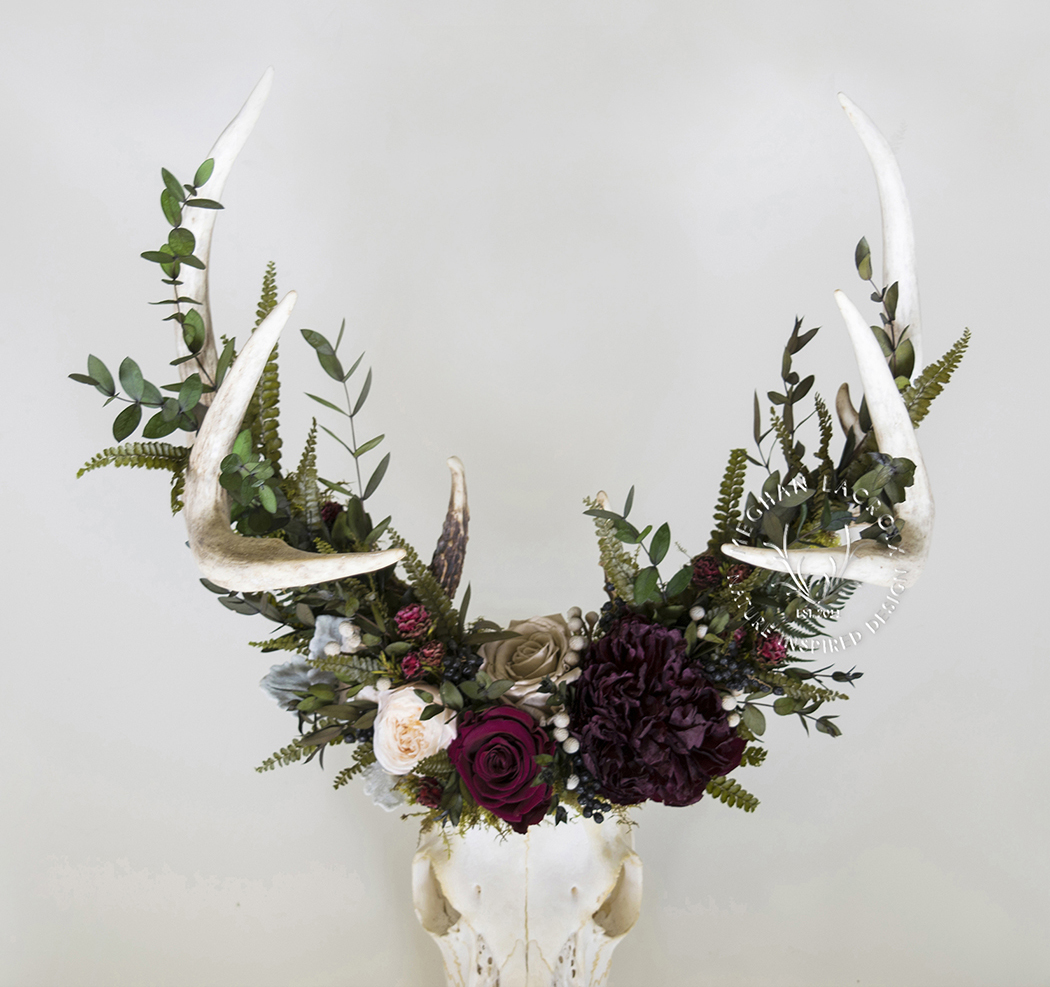 Deer Skull with Flowers by MeghanLaCroix.com