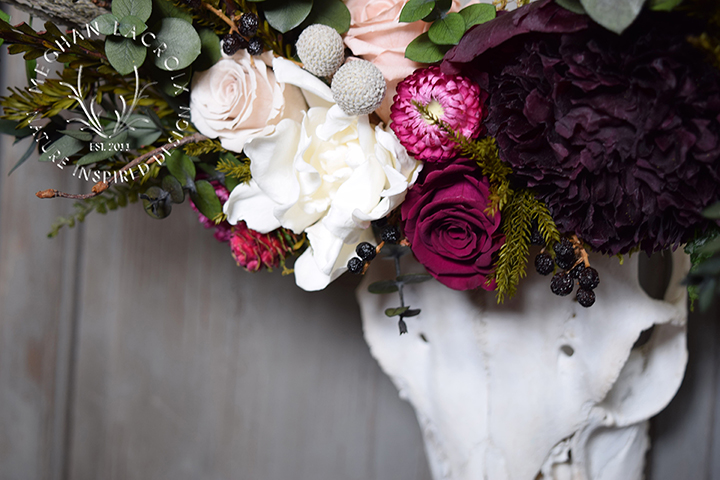 Skull with Flowers by MeghanLaCroix.com