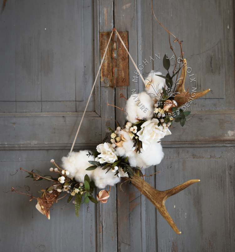 Antler Shed with Preserved Flowers by MeghanLaCroix.com