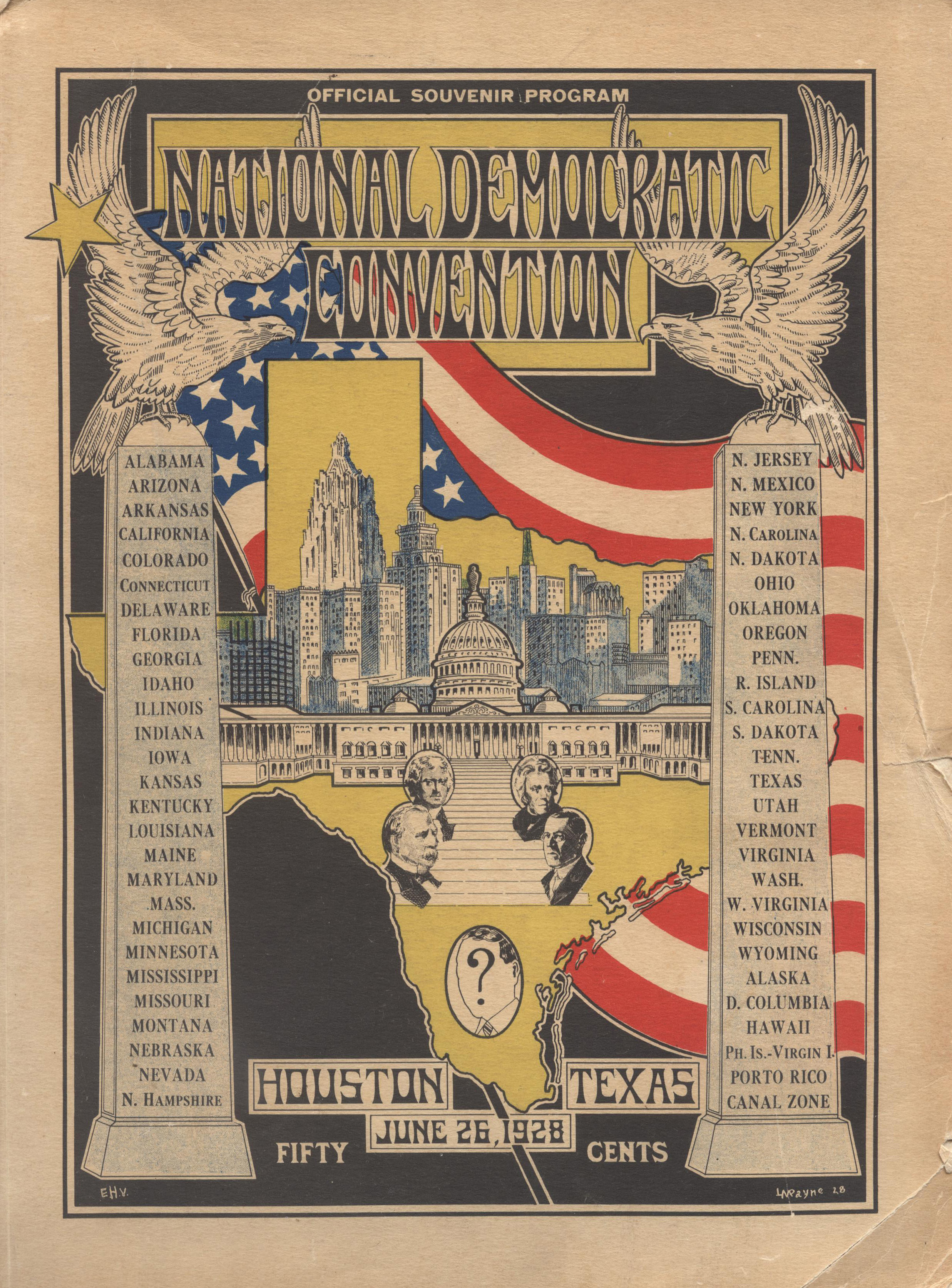 Official Souvenir Program of the 1928 Democratic National Convention,  Heritage Society Permanent Collection