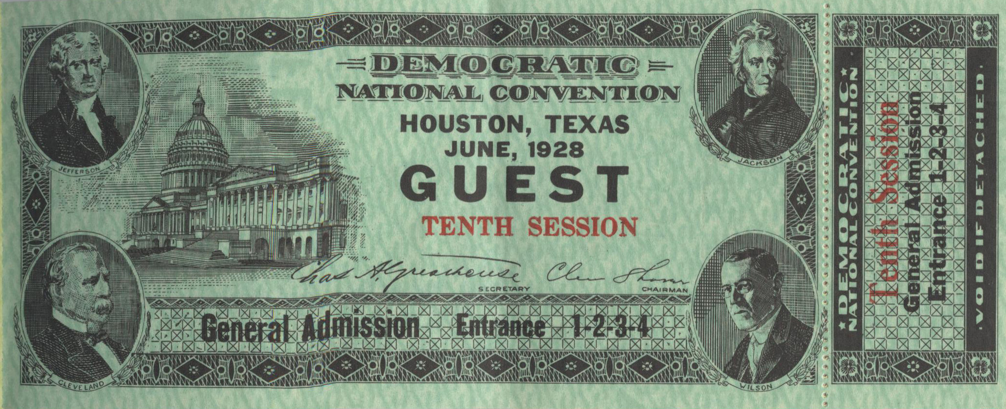 Tickets to the Convention,  Heritage Society Permanent Collection