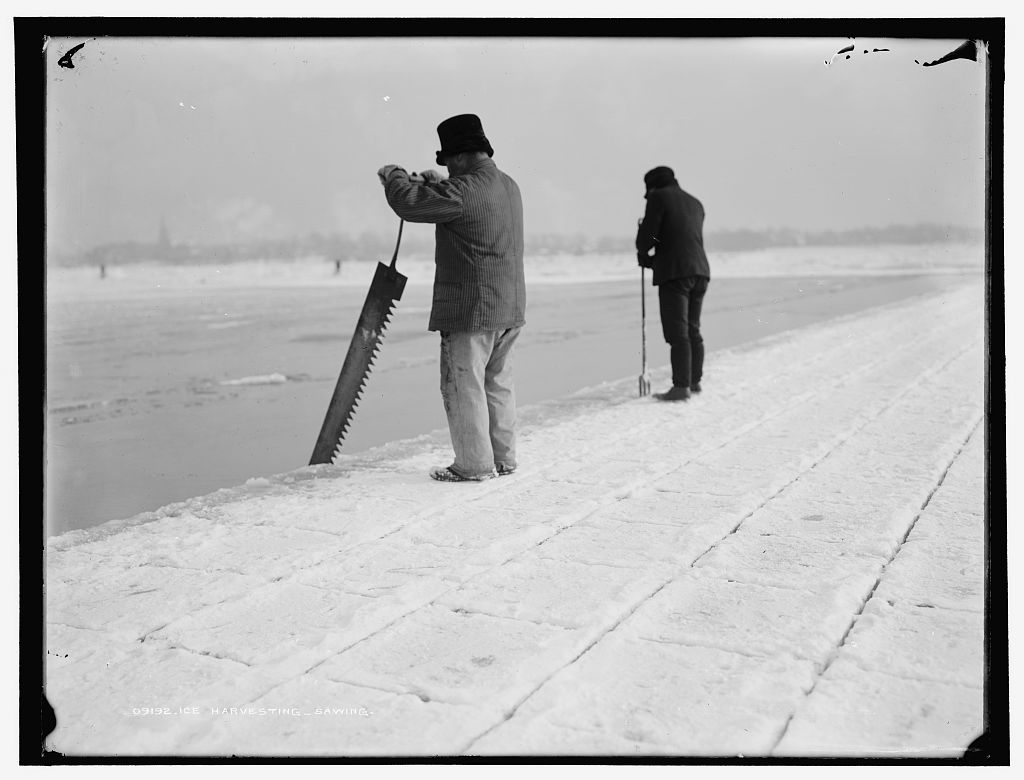 Ice Harvesting, courtesy of the Library of congress