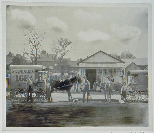 Ice Wagon, courtesy of the Library of Congress