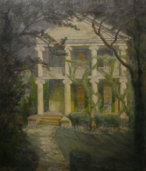 Oil Painting of the Nichols-Rice-Cherry House, THS Permanent Collection
