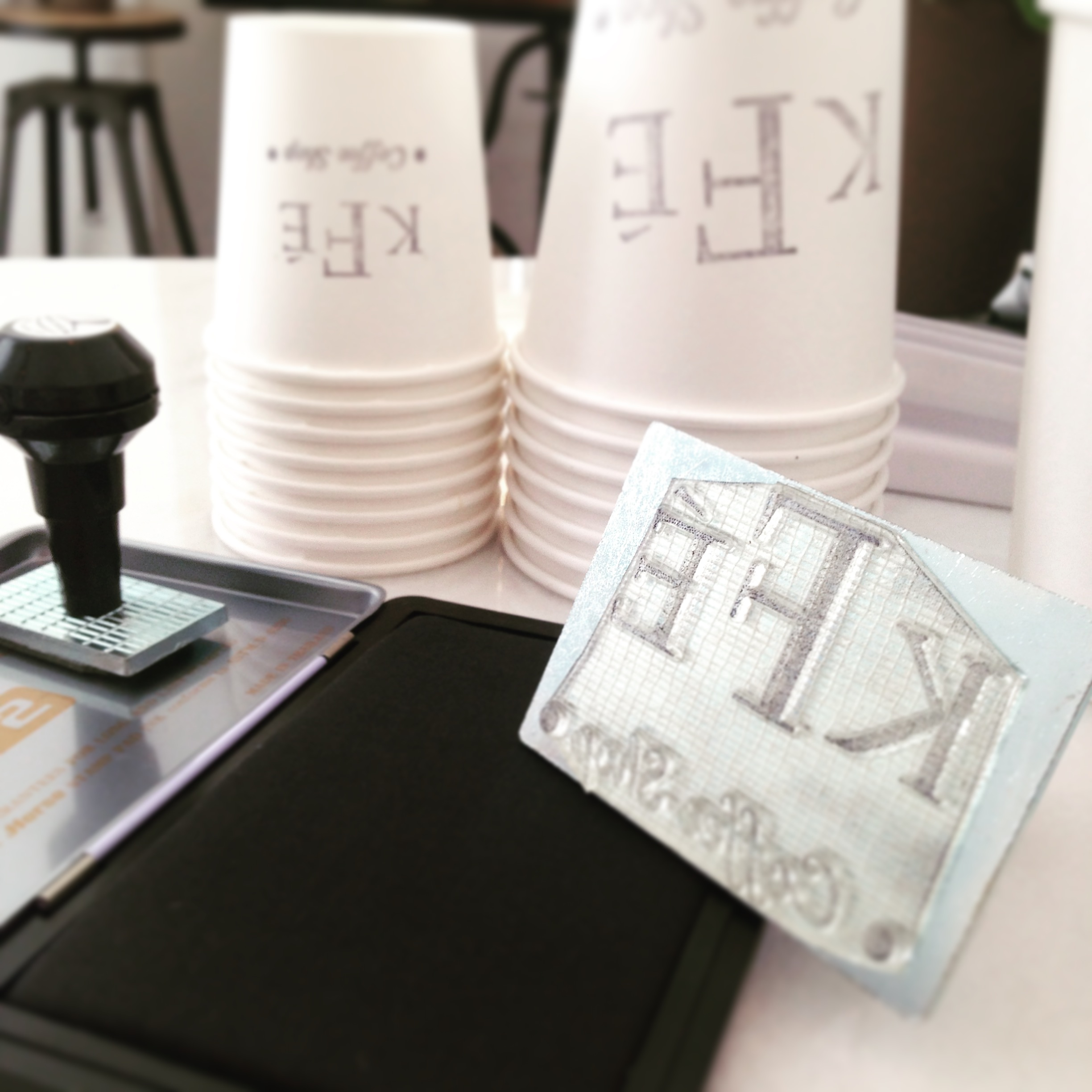KFE Coffee Cup Take away Stamp