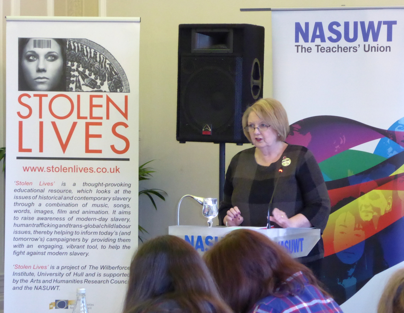 Ms Chris Keates, General Secretary of NASUWT, speaking at the Yorkshire and Humber Regional meeting.