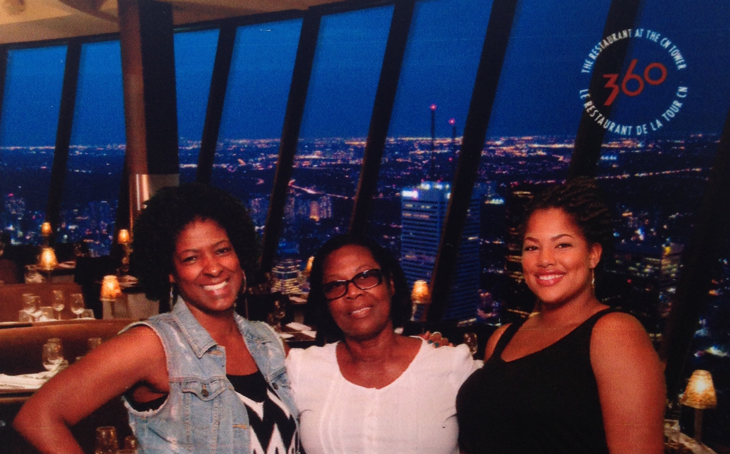 Dinner at the 360 Restaurant - CN Tower in Toronto, Canada