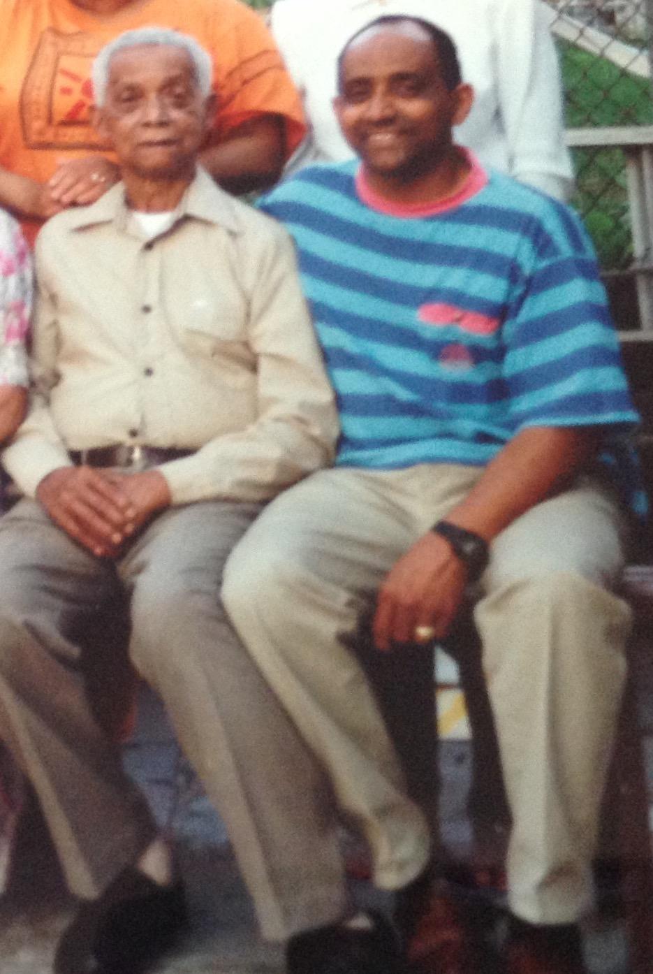 My dad and my grandfather Denzel Hamblin.