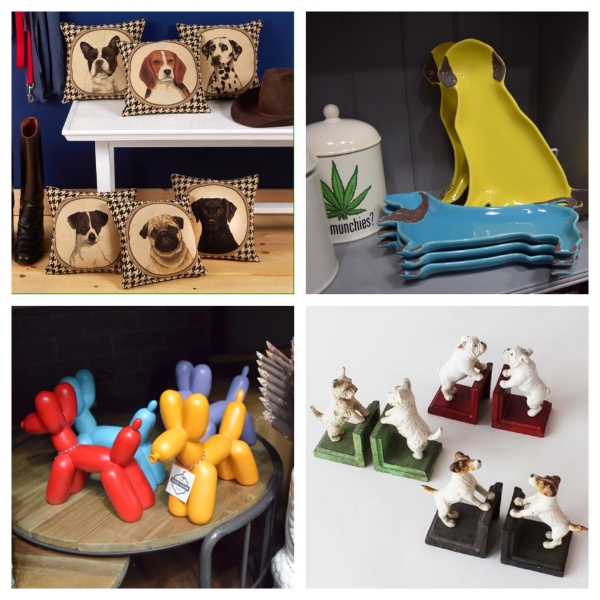 Gifts for the dog lovers in your life. (That munchies jar in the top right pic is a pretty cute gift idea too.)