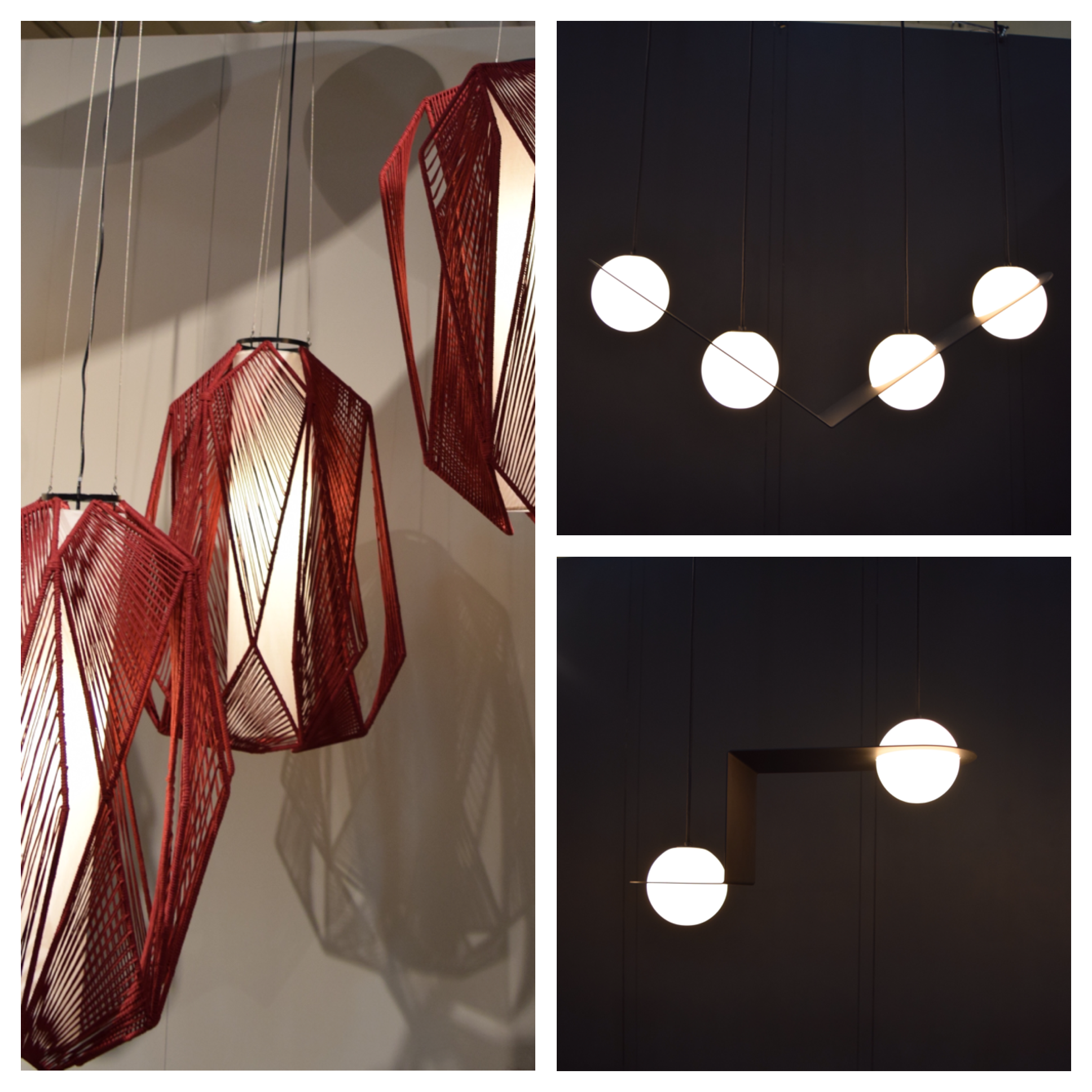 Left:  Handmade using natural materials found in the Philippines by  LIJA    Right:  Laurent by  Lambert & Fils Studio