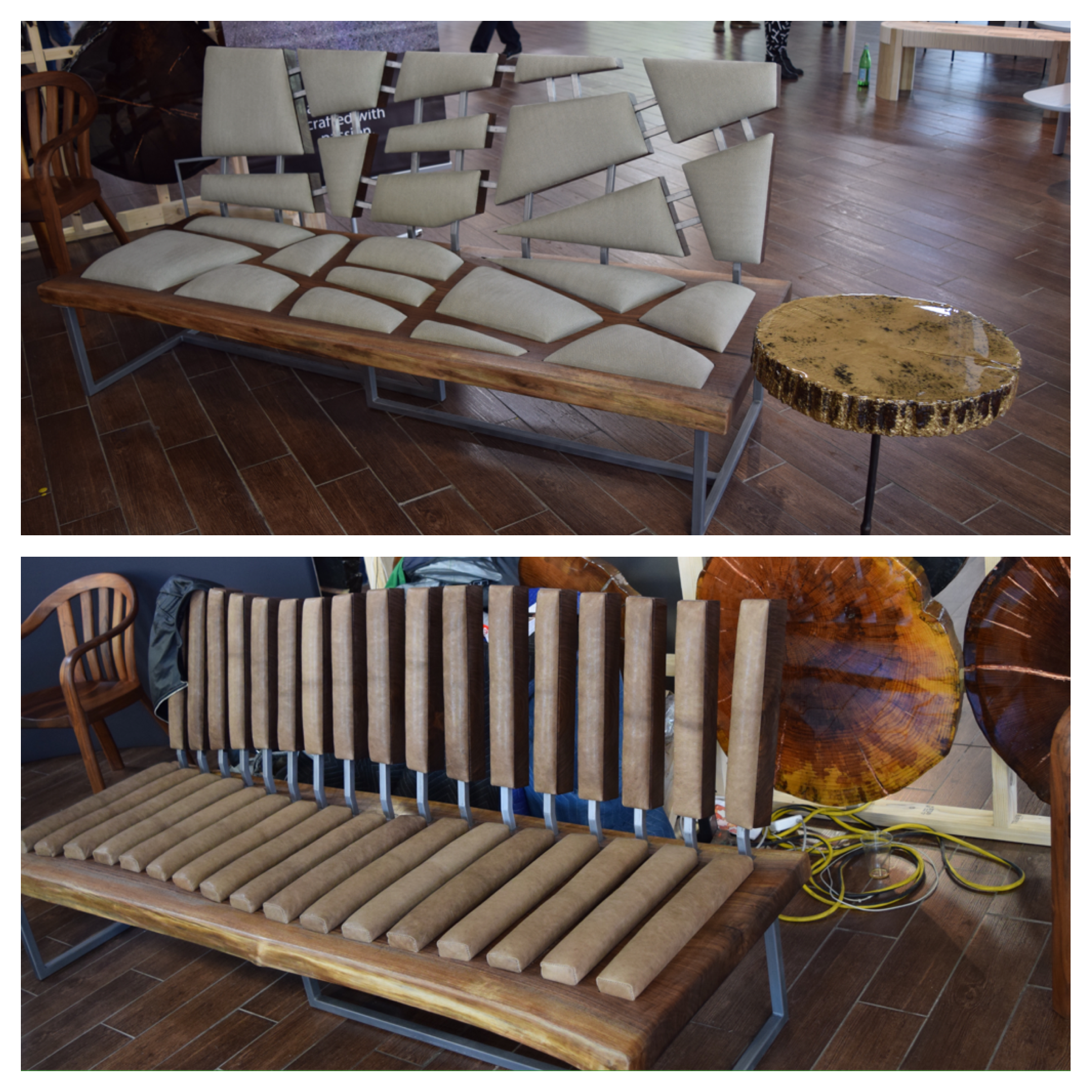 Bklyn Designs,  Orent Design NYC , (these benches are not pictured on their website but they are made by Orent Design)