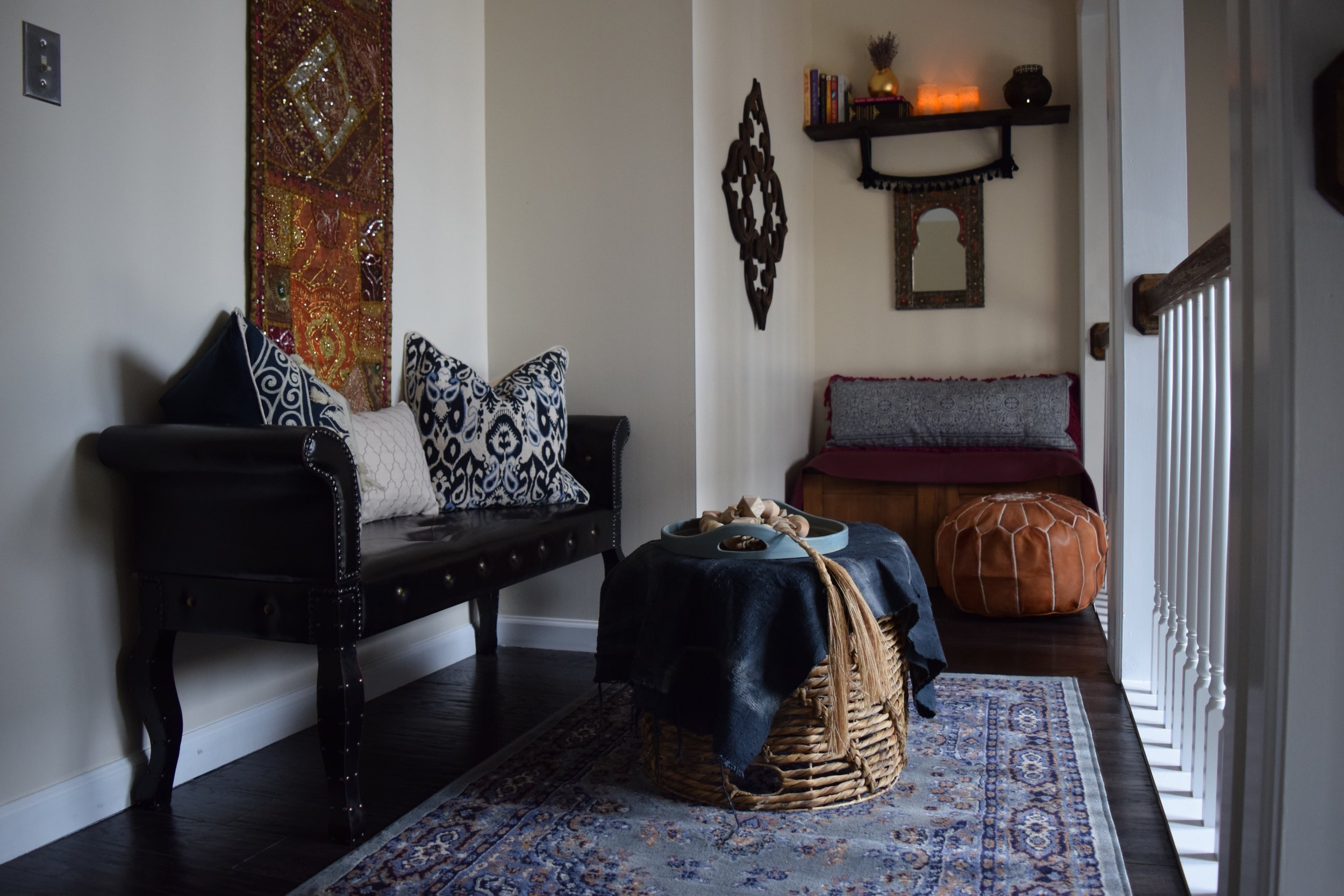 Eclectic Country Cabin, Moroccan Style Nook