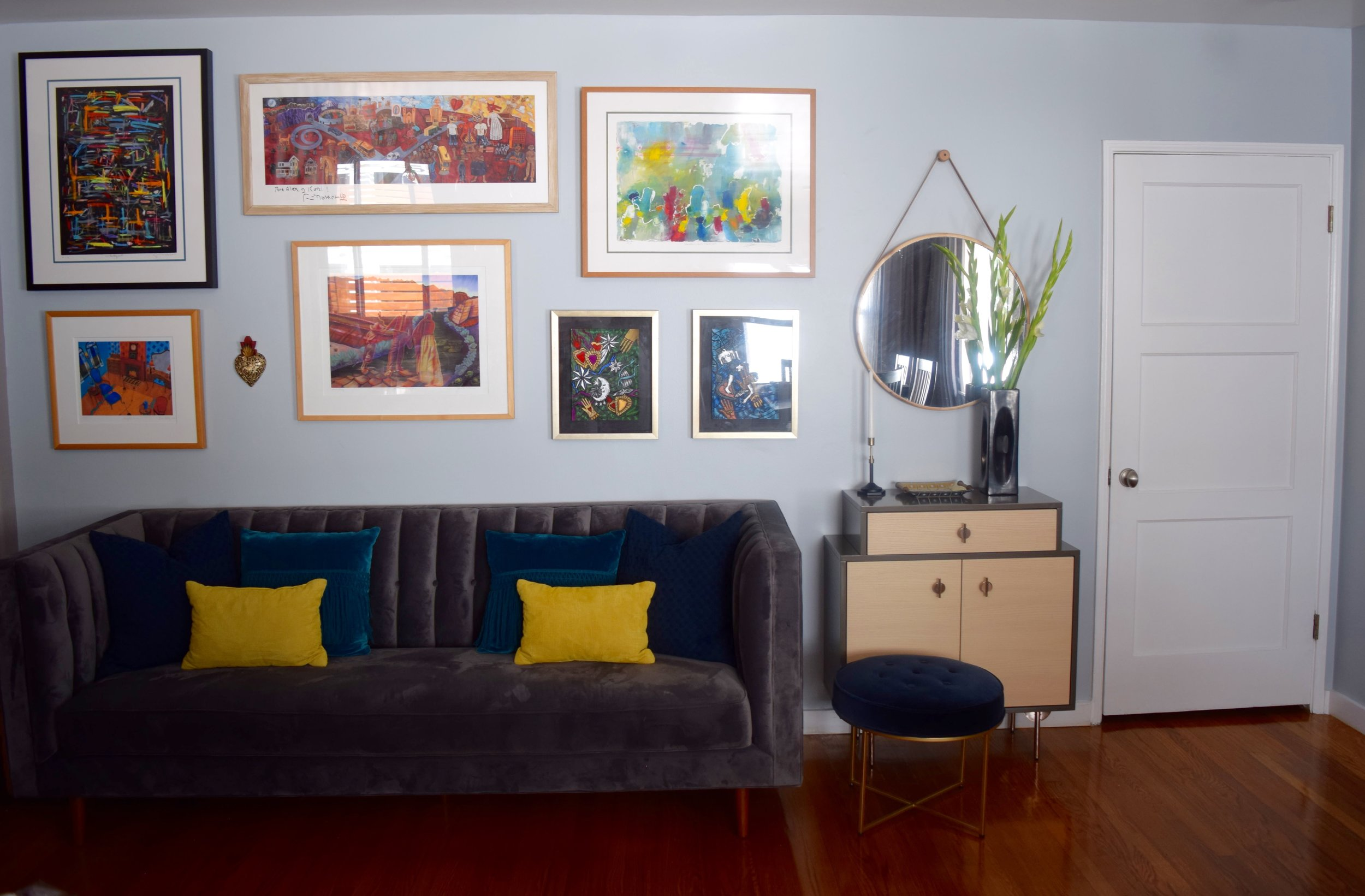 Los Angeles Sitting Room (Gallery Wall)