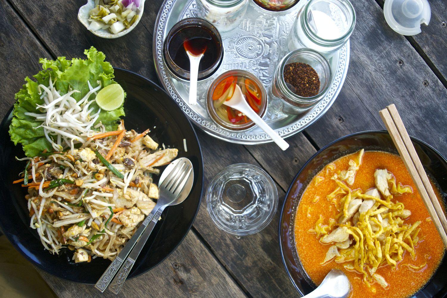 Pad Thai and Khao Soi from We's Restaurant in Chiang Mai- two concrete reasons to visit Thailand