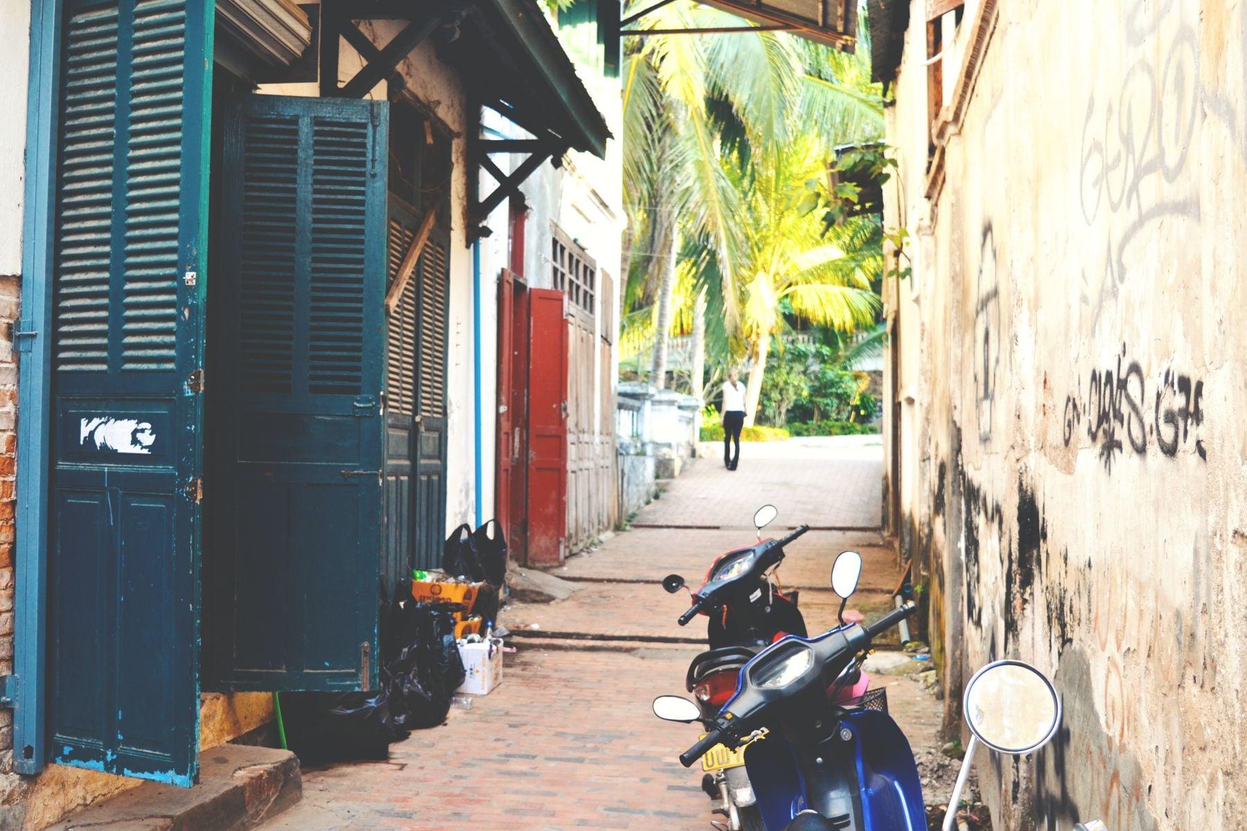 European-feeling Luang Prabang, Laos.A beautiful UNESCO heritage site