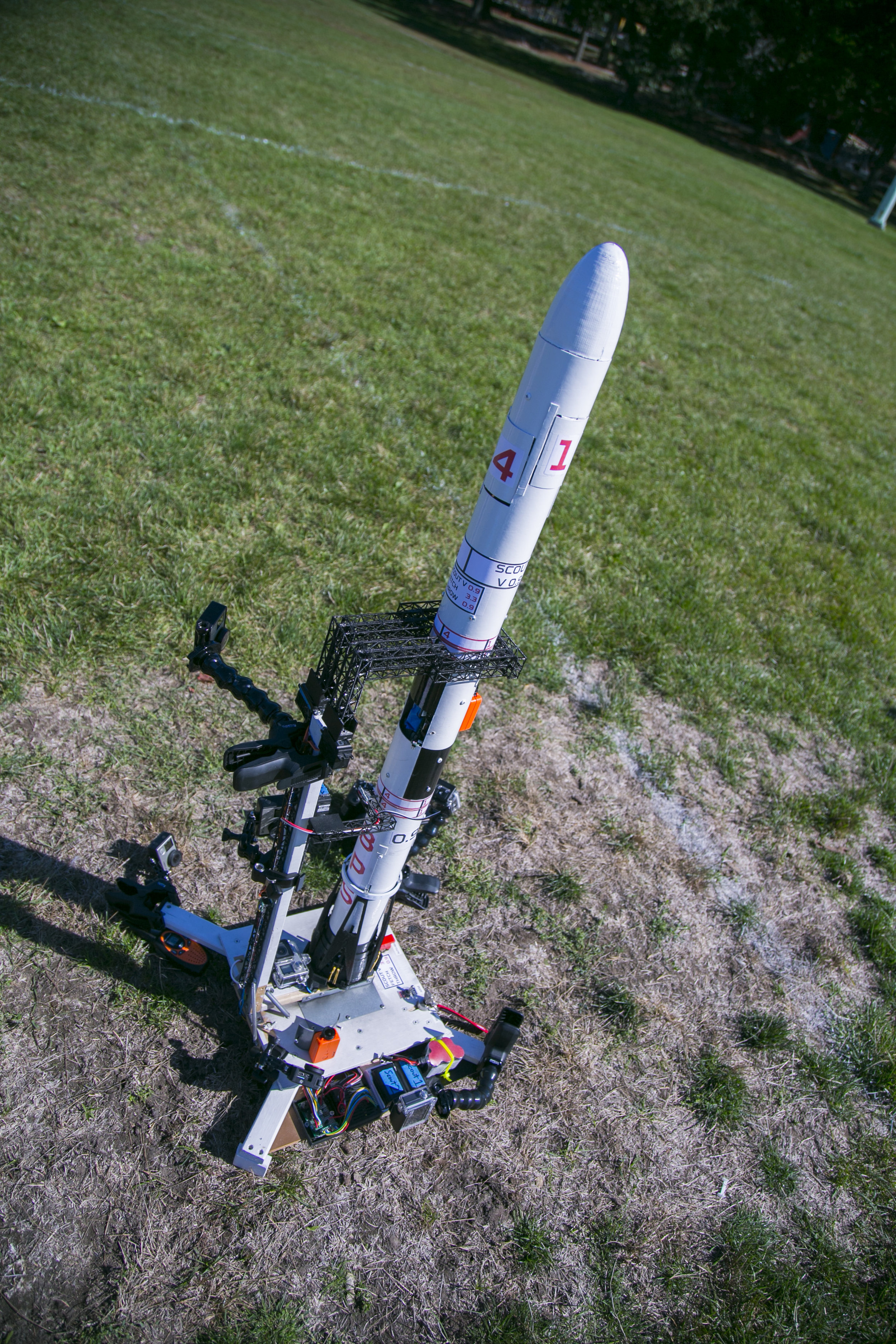 Scout V 0.9 waits on the pad before launch