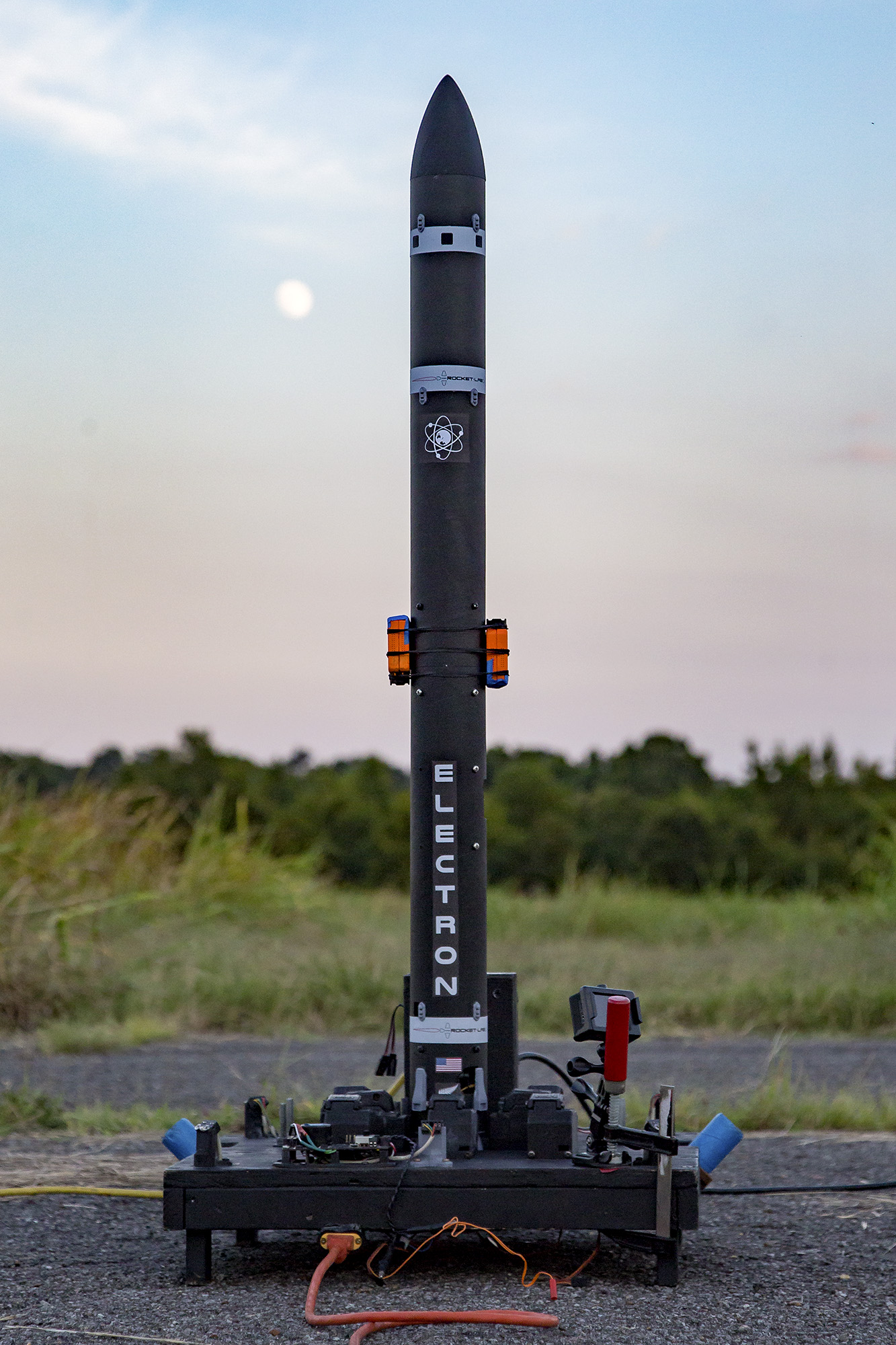 "A model of the Rocket Lab Electron, built as part of the ""Build Signal R2"" video series"