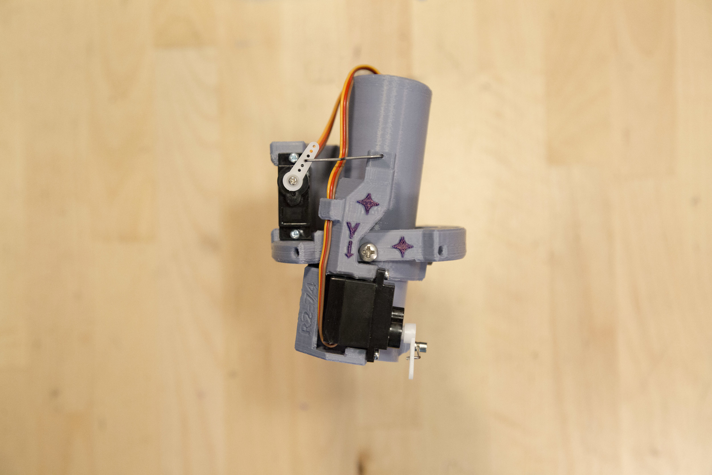 The TVC mount with about 5 degrees of actuation