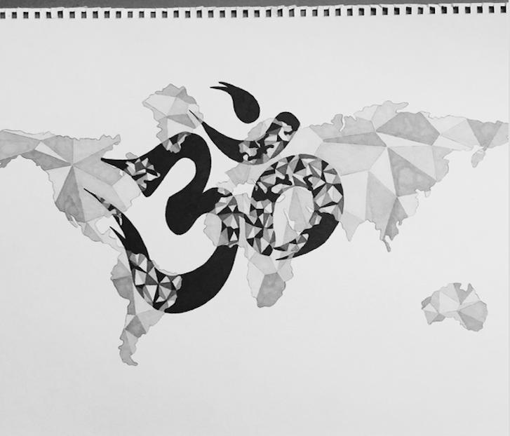 Namaste Package Drawing by Alexia De Laubadère