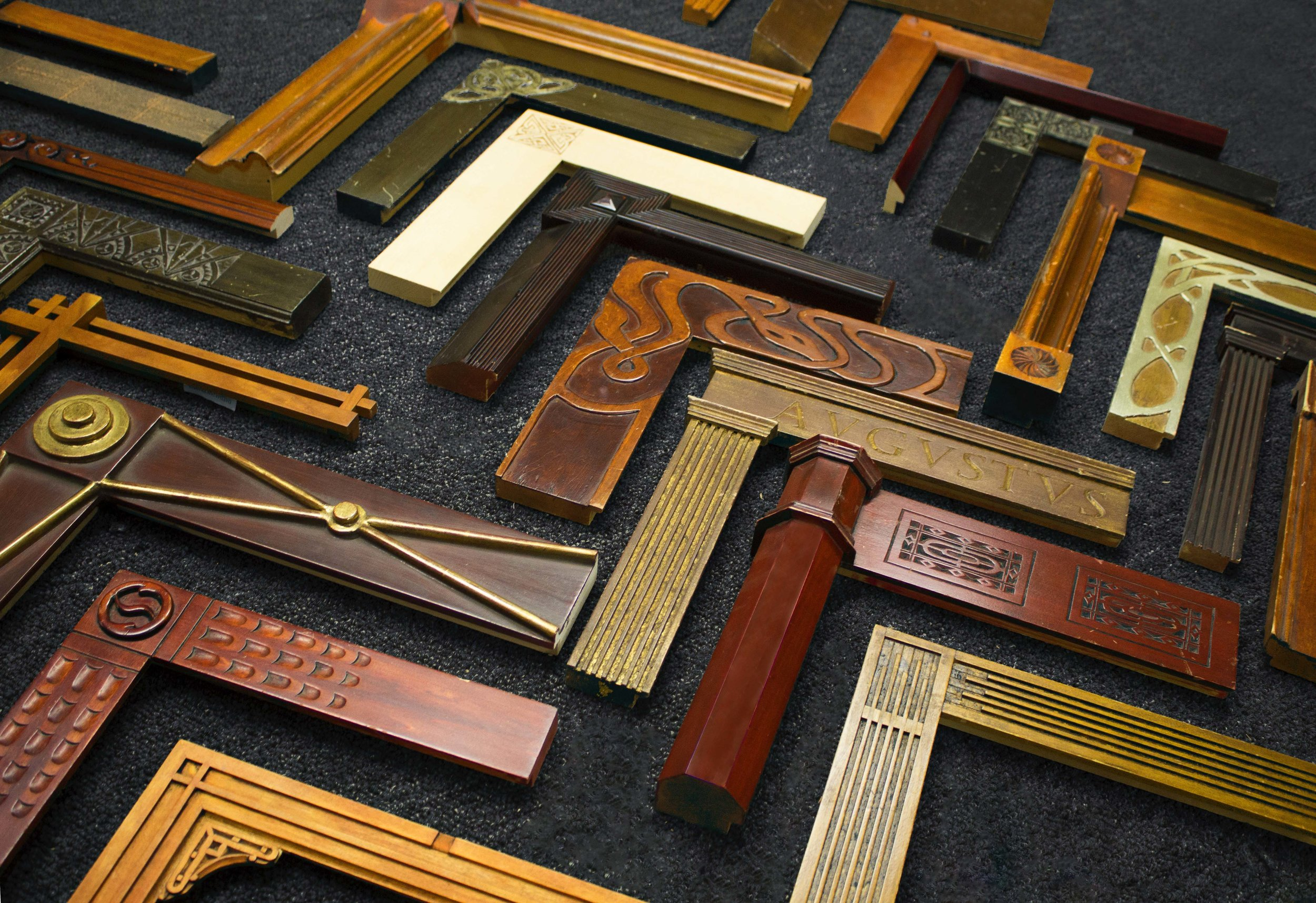 Hand-carved, Arts & Crafts frames