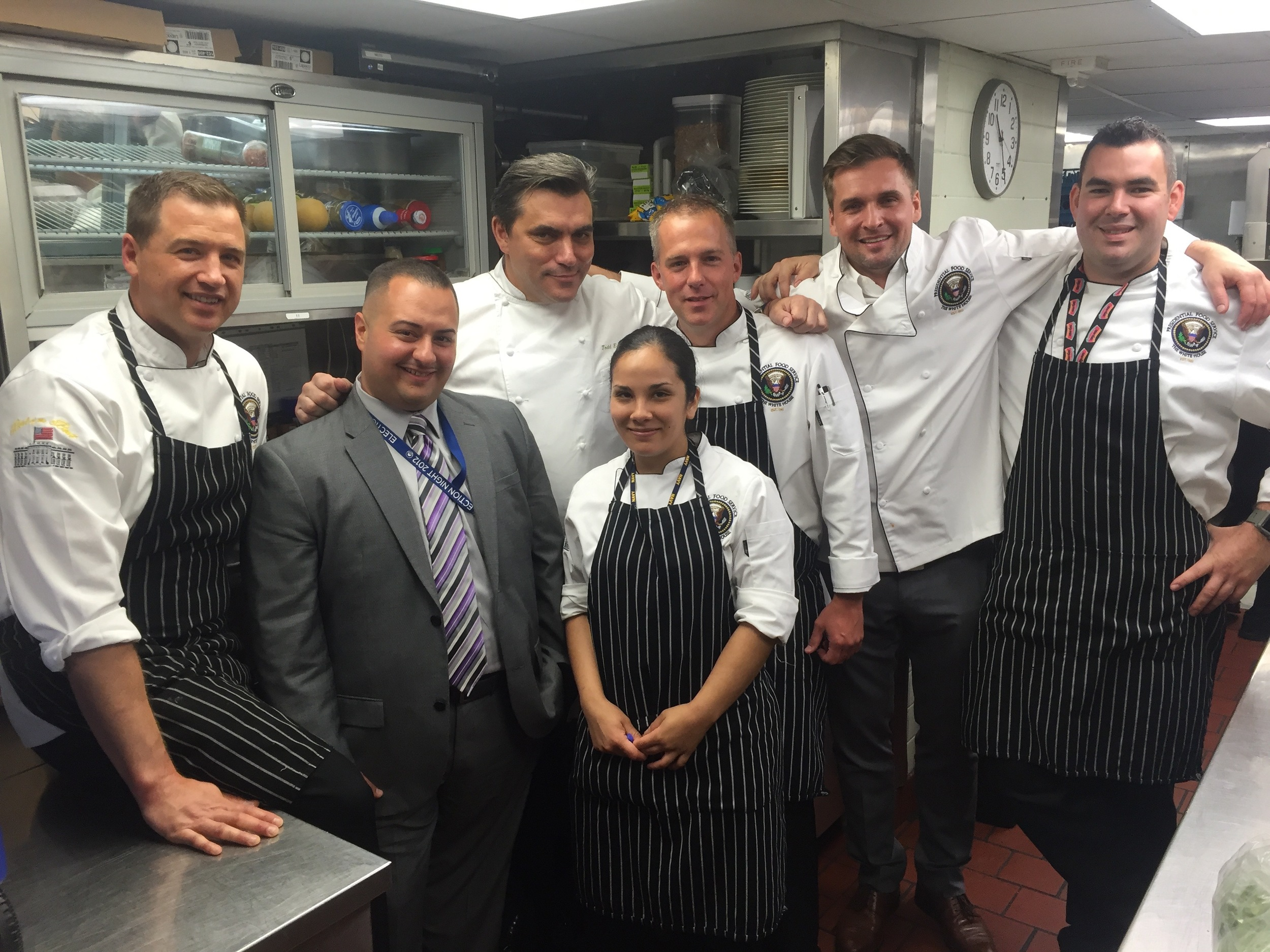 Chef TE with members of the US Navy FoodService Team