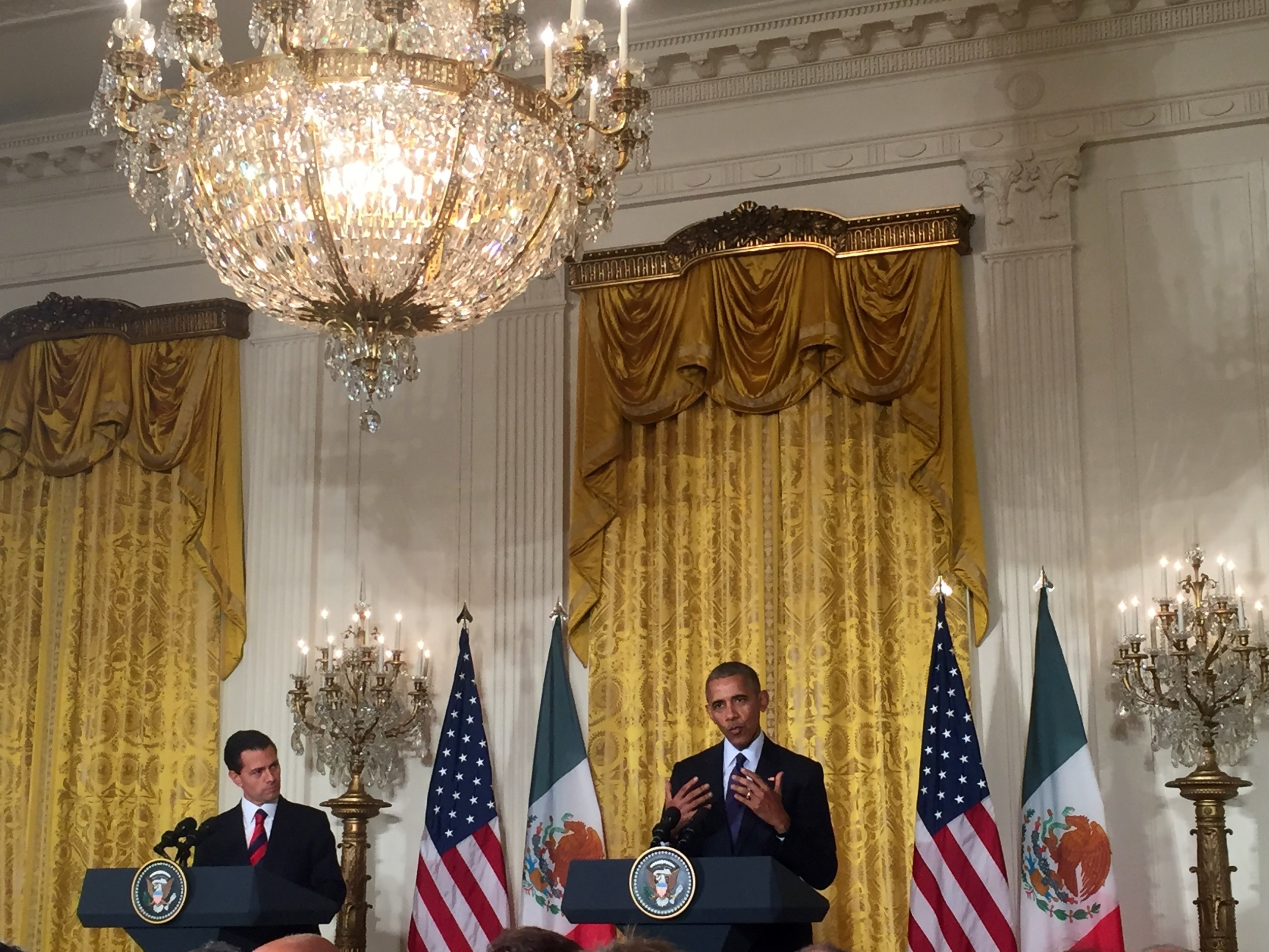 President Obama speaks at the joint US Mexico presidential press conference