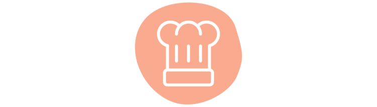 An illustrated chef's hat icon