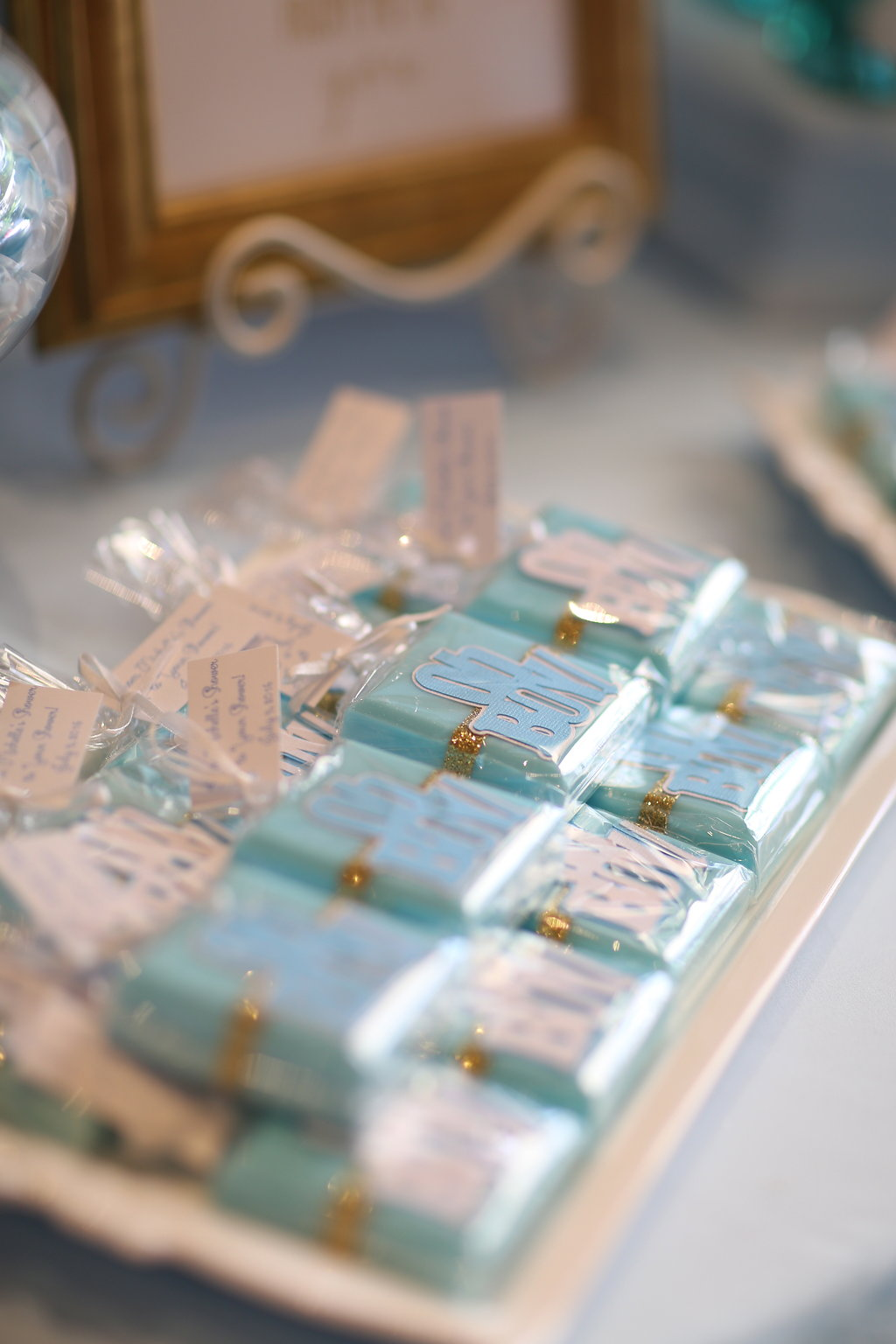 "Little soap shower favors (I had the tag say "" From my shower to yours"" :)"