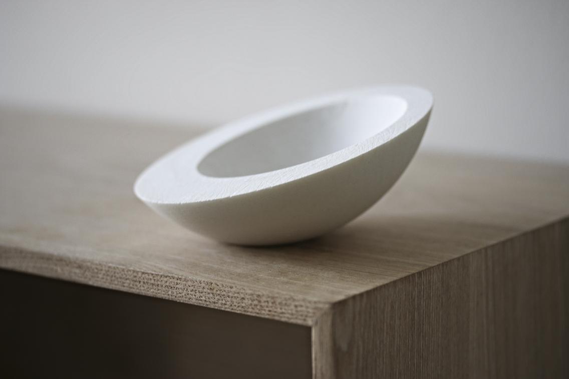 Medium sized white porcelain bowl