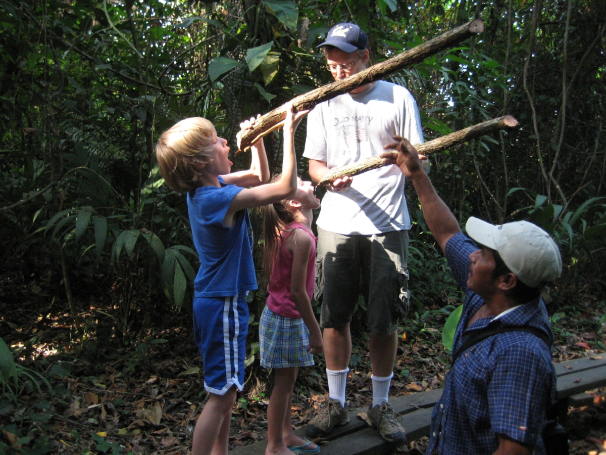 Derik and kids with water vine.JPG
