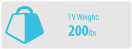 TV Weight: 200 lbs   Large TV Wall Mount