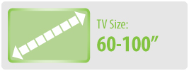 """TV Size: 60-100""""   Extra Large TV Wall Mount"""