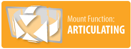 Mount Function: Articulating   Articulating TV Wall Mount