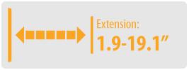 """Extension: 1.9-19.1""""   Medium TV Wall Mount"""