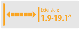 """Extension: 1.9-19.1""""   Large TV Wall Mount"""