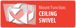 Mount Function: Ceiling Swivel   Ceiling Swivel TV Mount