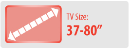 """TV Size: 37-80""""   Large Ceiling TV Mount"""