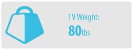 TV Weight: 80 lbs   Medium TV Wall Mount