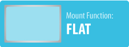 Mount Function: Flat   Flat TV Wall Mount