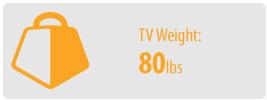 TV Weight: 80 lbs | Medium TV Wall Mount