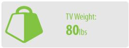 TV Weight: 80 lbs | Medium TV Wall Mount Kit