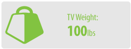 TV Weight: 100 lbs | Large TV Wall Mount Kit