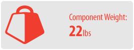 Component Weight: 22 lbs | AV Component Shelf Mount