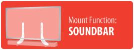 Mount Function: Soundbar   TV Soundbar Mount