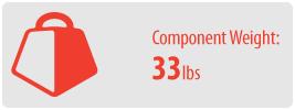 Component Weight: 33 lbs   TV Soundbar Mount