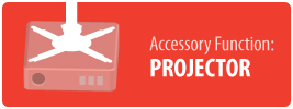 Accessory Function: Projector   Ceiling Tile Plate