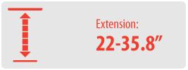 """Extension: 22-35.5""""   Medium Ceiling TV Mount"""